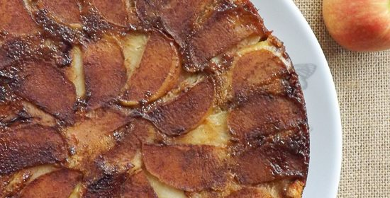 Peanut Butter Upside Down Apple Cake