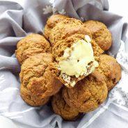 Reduced Sugar Oatmeal Pumpkin Banana Breakfast Muffins