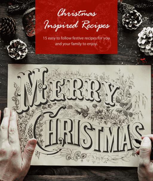 Cover for 15 Christmas Inspired Recipes e-book