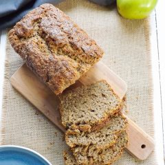 Reduced Sugar Apple Banana Bread
