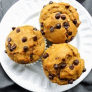 Sweet Potato Chocolate Chip Peanut Butter Muffins