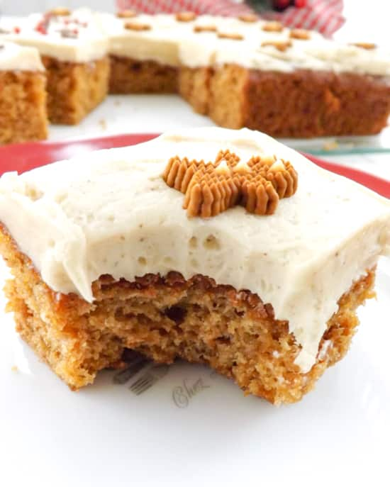 Light Tasty Molasses Free Gingerbread still packs all the flavour of traditional gingerbread. A soft sponge topped with a simple ginger frosting | BakeThenEat.com