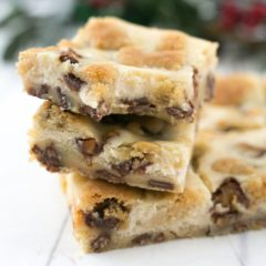 Chocolate Chip Cookie Snickers Cheesecake Bars
