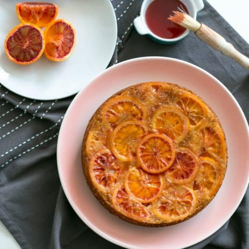 Blood Orange Upside Down Cake - easy to make and packed full of sweet citrus flavour | BakeThenEat.com