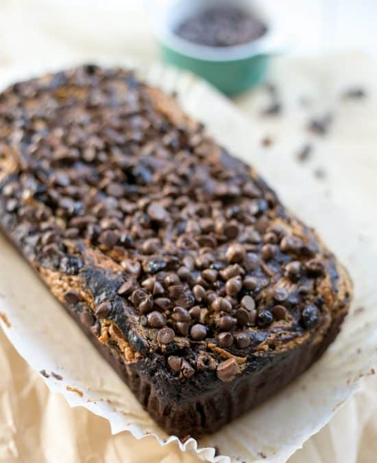 Peanut Butter Swirl Chocolate Banana Bread