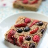 Healthy Baked Mixed Berry Oatmeal