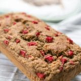 Healthy Sugar Free Rhubarb Banana Bread