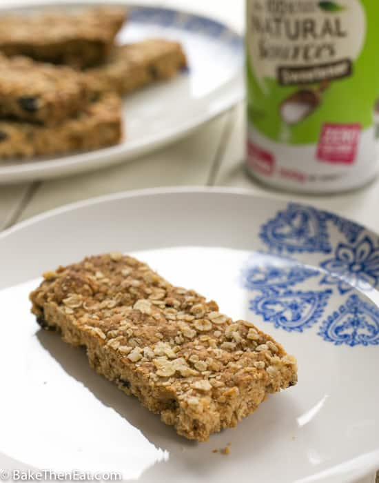 A slice of Sugar Free Scottish Oaty Crumbles - BakeThenEat.com