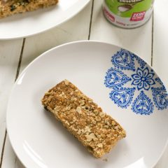 A plate of Refined Sugar Free Scottish Oaty Crumbles with all natural zero calorie sweetener - BakeThenEat.com