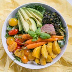 Warm Balsamic Honey Roasted Vegetable Salad | BakeThenEat.com