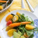 Warm Balsamic Honey Roasted Vegetable Salad