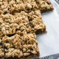 Easy Sticky date oat slices | BakeThenEat.com