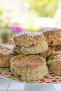 A stack of Easy Sweet Apricot Scones | BakeThenEat.com