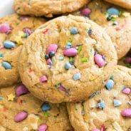 Unicorn Sprinkle White Chocolate Chip Cookies