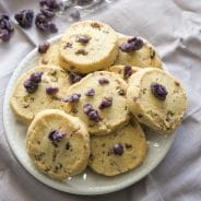 Sweet Floral Crystallised Violet Shortbread
