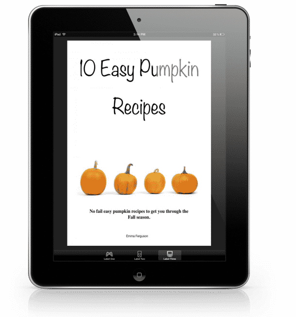 easy pumpkin recipe ebook