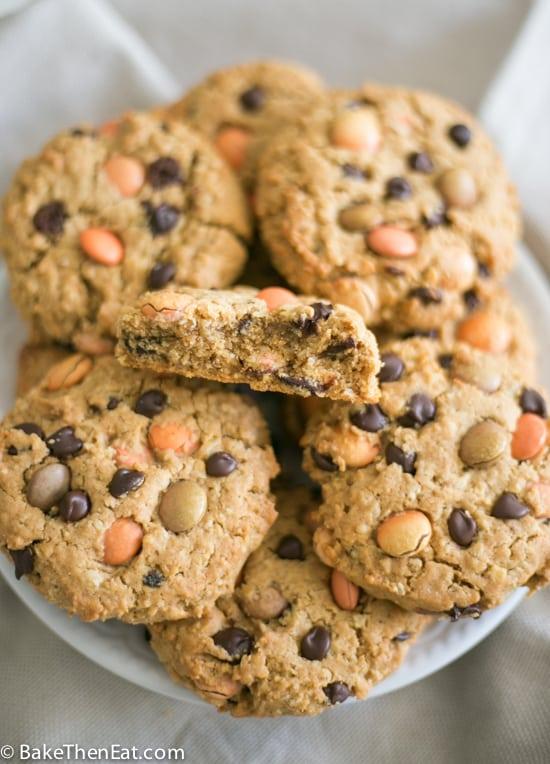 Seasonal Autumn Monster Cookies | BakeThenEat.com