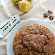 Lightly Spiced Sultana Pear Cake