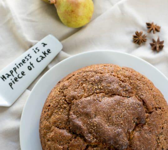 Lightly Spiced Sultana Pear Cake