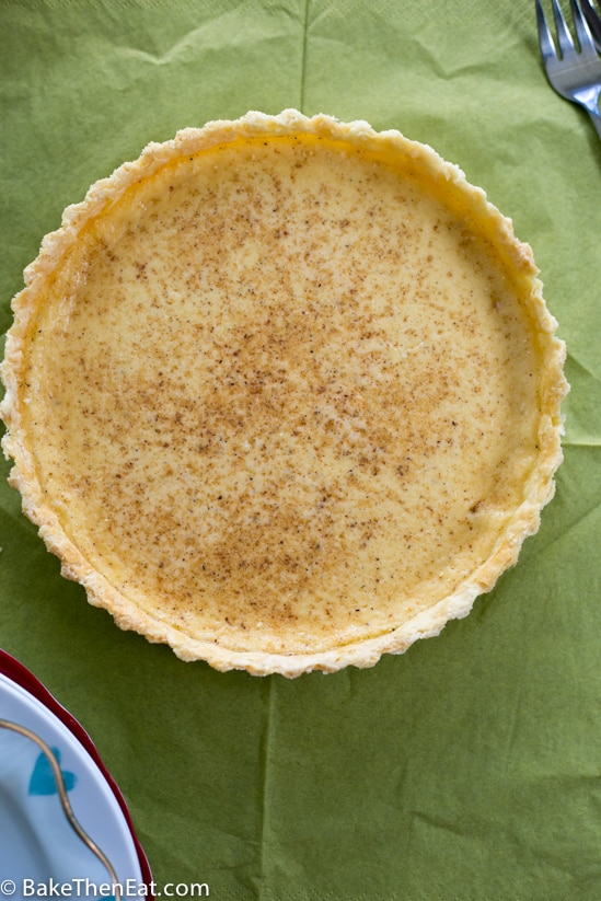 A Super Simple Old Fashioned Egg Custard Tart ? BakeThenEat.com