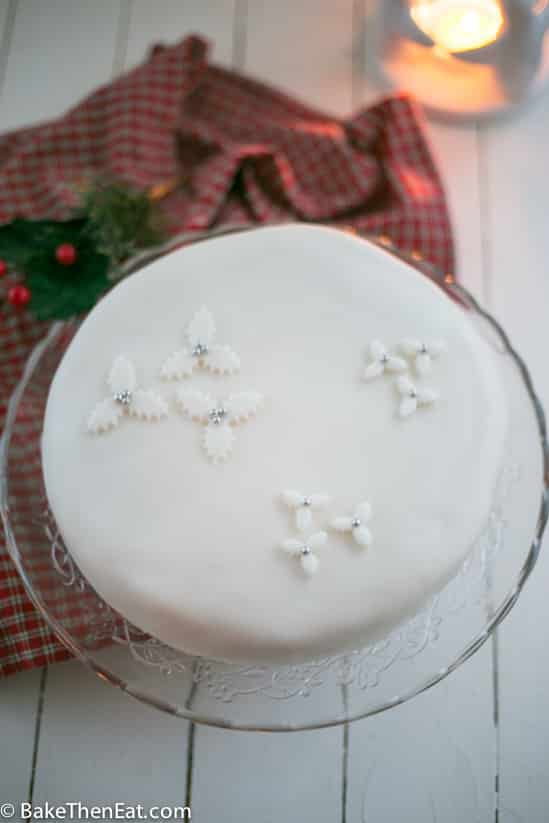 A fake Christmas cake, that has all the flavours of a traditional Christmas cake but with none of the stress or time needed for a traditional cake   BakeThenEat.com