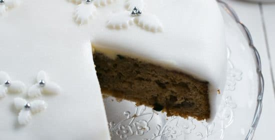 Easy Quick Fake Christmas Cake