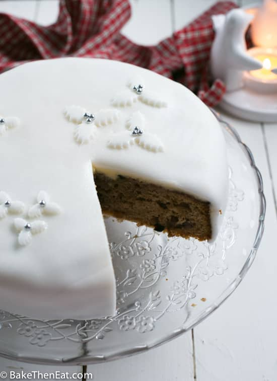 Quick And Easy Fake Christmas Cake With A Slice Cut Out Of It