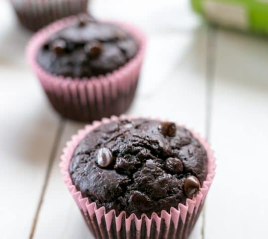 Sugar Free Double Chocolate Muffins