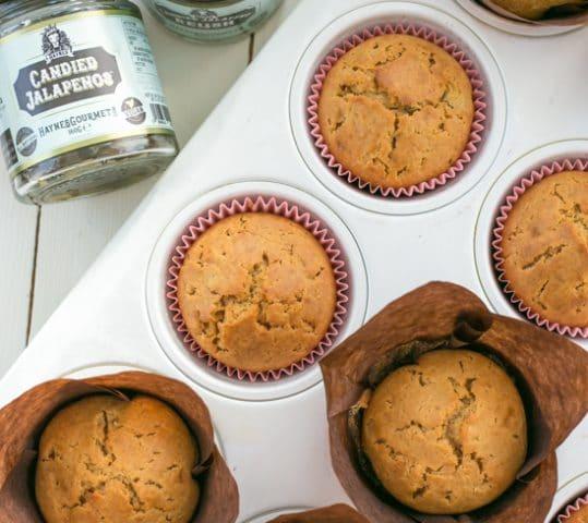 Candied Jalapeño Honey Muffins