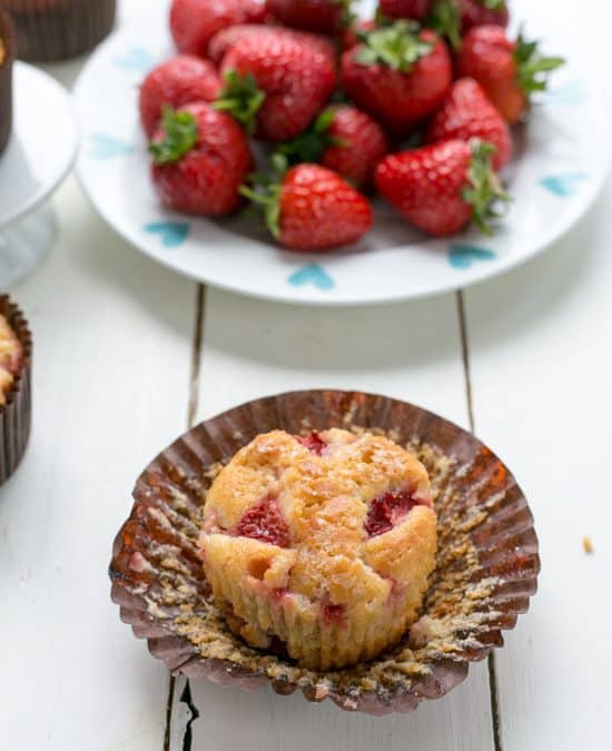 Skinny Low Sugar Strawberry Muffins