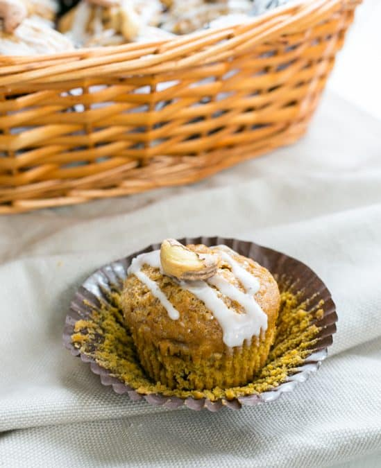 Cashew Sultana Pumpkin Muffins