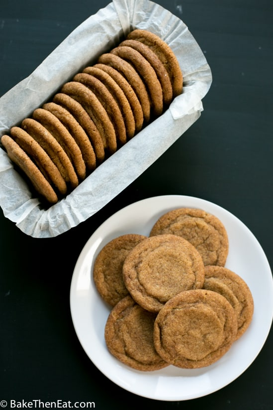 Baked and ready to eat soft chewy cinnamon cookies