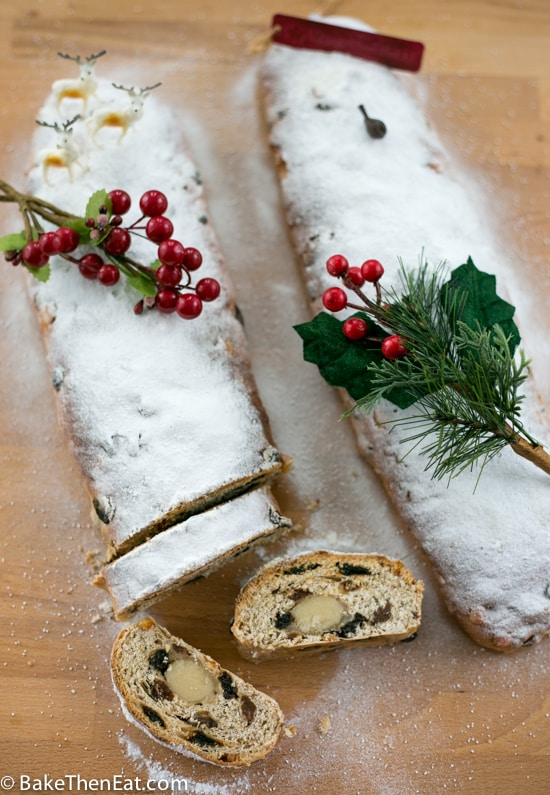Slices of stollen.