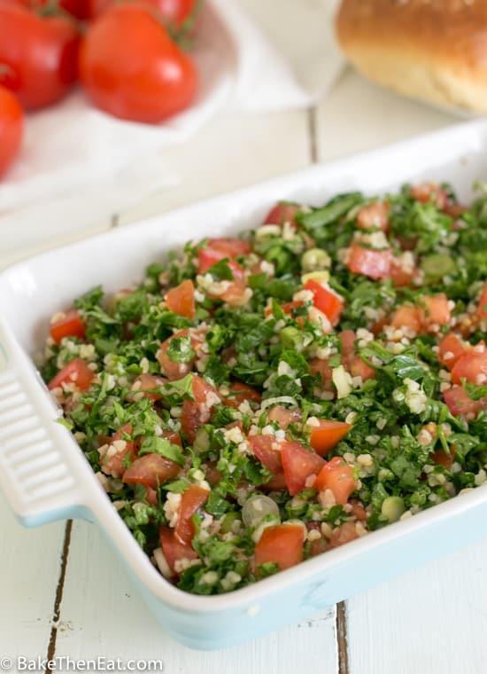 A dish of Tabbouleh Salad